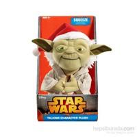 Star Wars: Santa Yoda Konuşan Peluş 23 Cm