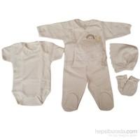 Tory Baby 111083 Hastane Çıkışı 5Li Set Ekru 0-3 Ay (56-62 Cm)