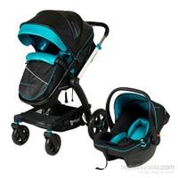 Prego 2075 Viola Travel Bebek Arabası Siyah-Turkuaz