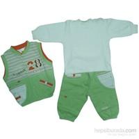 Tory Baby 4047 3Lü Bebek Takımı Yeşil 6-9 Ay (68-74 Cm)
