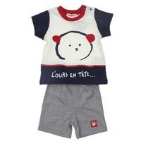Modakids Bambaki Erkek Bebek Şortlu Takım 013-0017-012