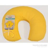 Diş Kaşıyıcılı Bebemia Bebek Destek Yastığı & Emzirme Minderi-Sarı Puanlı