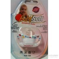 Babysoft Damaklı Desenli Silikon Emzik 6-18 Ay No:2
