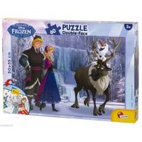 Disney Frozen 60 Parça 50Cmx35cm 2 İn 1 Double Face Puzzle