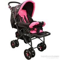 Mcrae Mc 750 Comfort Çift Yönlü Lux Bebek Arabası - Pembe