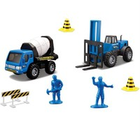 Maisto İnşaat Araçları Mikser Ve Forklift İnşaat Seti Mavi