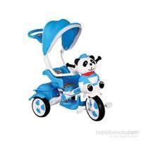 Babyhope 127 Little Panda Ebeveyn Kontrollü Tenteli Müzikli Tricycle Üç Teker Bisiklet -Mavi