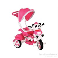 Babyhope 127 Little Panda Ebeveyn Kontrollü Tenteli Müzikli Tricycle Üç Teker Bisiklet- Pembe