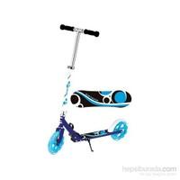 Babyhope Xlm -9028 Ayaktan Frenli Katlanır Aluminyum Scooter Mavi