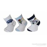 Peramaya 3 Lü Araba Desen Bebek Çorap