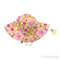 İ Play Upf 50+ Güneş Korumalı Brim Çift Yönlü Bebek Şapka Sarı