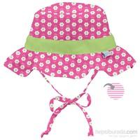İ Play Upf 50+ Güneş Korumalı Çift Yönlü Ruffle Bucket Bebek Şapka Pembe