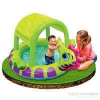 İntex Denizatı Gölgelikli Bebek Havuzu 188X147x104 Cm