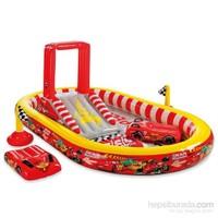 İntex Cars Kaydıraklı Oyun Havuzu