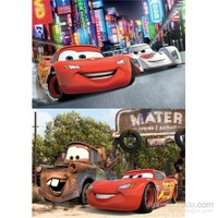 Disney Cars Puzzle (Yapboz) 2'si 1 arada (35+60 Parça)