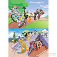 Warner Bros Looney Tunes - Puzzle (Yapboz) 2'si 1 arada (35+60 Parça)