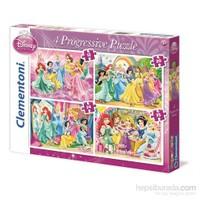 Clementoni 12+20+24+35 Parça Disney Prensesleri 4'Lü Puzzle