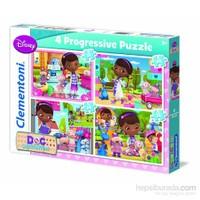 Clementoni 12+20+24+35 Parça Doktor Mcstuffins 4'Lü Puzzle