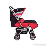 Babyhope 604 Çift Yönlü Puset / Kırmızı-Siyah