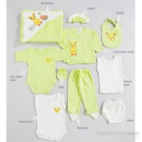 Hello Little 10'lu Hastane Çıkışı Tavşan Desen (Bebek Arabalı) / Yeşil