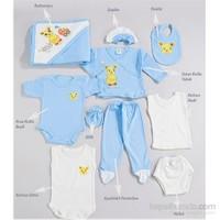 Hello Little 10'lu Hastane Çıkışı Tavşan Desen (Bebek Arabalı) / Mavi