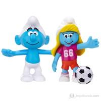 Şirinler Sakar Şirin ve Futbolcu Şirine İkili Figür
