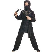 Siyah Ninja Çocuk Kostümü Klasik 7-8 Yaş