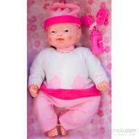 Gerçek Yüz Mimikli Pıtırcık Bebek, Pembe - Beyaz