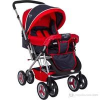 Bordo Lüks BLB 770 Çift Yönlü Bebek Arabası / Lacivert-Kırmızı