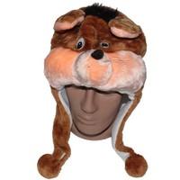 Pandoli Kahve Renk Fare Hayvan Şapkası Peluş