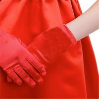 Saten Çocuk Eldiveni Kırmızı Renk 3-6 Yaş Arası