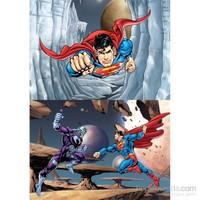 Warner Bros Superman- Puzzle - (Yapboz) 2'si 1 arada (35+60 Parça)