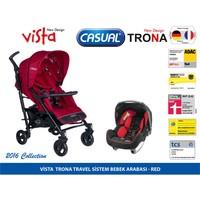 Casual Vista Travel Sistem Bebek Arabası /Kırmızı