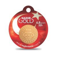 Nadir Gold 22 Ayar Külçe Gram Altın 0,5 Gr. (Yuvarlak)