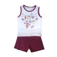 Zeyland Kız Çocuk Beyaz Pijama Takim K-41Z662pjm254