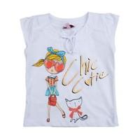 Zeyland Kız Çocuk Beyaz Tshirt K-51Z552svm52