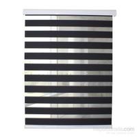 Comforsun Ekonomik Düz Zebra Stor Perde Siyah 60x270