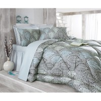 Cotton Box Saten Uyku Seti Çift Kişilik - Mira Mavi