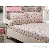 Eponj Home Lüx Lastikli Çarşaf Seti Çift Kişilik Pinkberry Krem