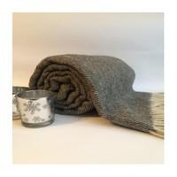 Mella Home Wool Gri Balık Sırtı Tv Battaniyesi