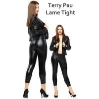 Terry Pau TP060101 Siyah Lame Tight