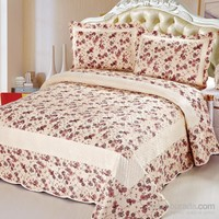 Cotton House Home Collection Nubuk Mira Çift Kişilik Yatak Örtüsü - Rose