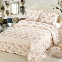 Cotton House Home Collection Nubuk Estela Çift Kişilik Yatak Örtüsü - Mürdüm