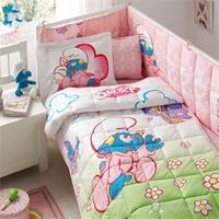 Taç Ranforce Lisanslı Uyku Seti Şirinler Bebek
