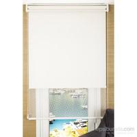 Comforsun Kırık Beyaz Zincir Deseneli İkili Stor Perde 80x200