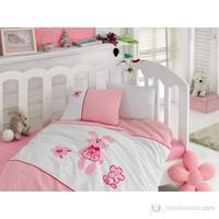 Cotton Box Nakışlı Lüks Bebe Nevresim Takımı - Minik Tavşan Pembe