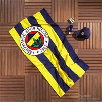 Taç Fenerbahçe Çubuklu 75x150 cm Plaj Havlusu
