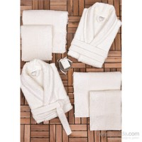 Minteks Cream-White 6'Lı Aile Seti-Valencia