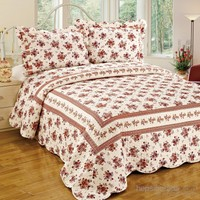 Cotton House Home Collection Daymond Çift Kişilik Yatak Örtüsü - Damask (Black) / Açelya