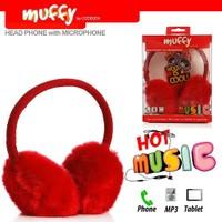 Codegen Muffy MF-010 Mikrofonlu KIRMIZI PELUŞ Kulaküstü Kulaklık